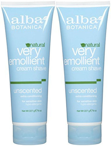 Alba Botanica Shave Cream, Unscented - 8 oz - 2 pk by Alba Botanica