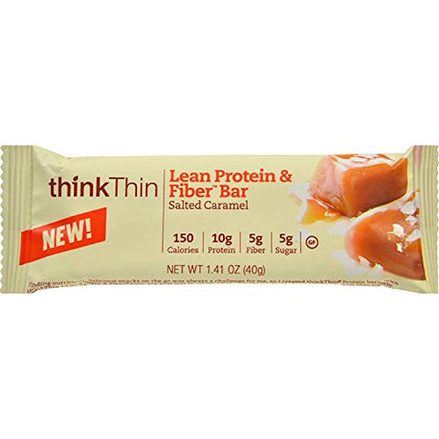 Think Products thinkThin Bar - Lean Protein Fiber - Caramel - 1.41 oz - Case of 10