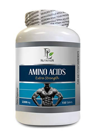 Muscle Building Tablets - Amino ACIDS 2200mg - Extra Strength - Amino acids pre Workout Supplements - 1 Bottle 150 Tablets