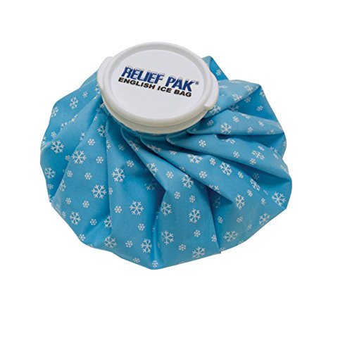 "Relief Pak English-Style Ice Bag / Pack Cold Therapy to Reduce Swelling, Decrease Pain and Offer Cold Compression Relief from Bruises, Migraines, Aches, Swellings, Headaches and Fever, 6"" Diameter"