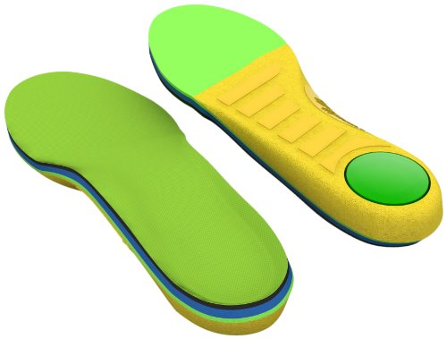 Spenco Kids Polysorb Premium Orthotic Arch Support Shoe Insoles for Children, Youth 7-8