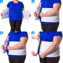 Image of BraceAbility 4XL Plus Size Bariatric Abdominal Stomach Binder | Obesity Girdle Belt for Big Men & Women with a Large Belly, Post Surgery Tummy & Waist Compression Wrap