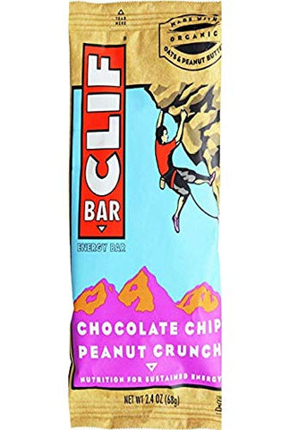 Clif Bar Chocolate Chip Peanut Crunch (Pack of 4)