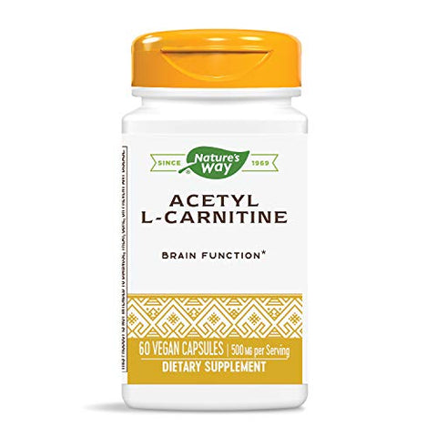 Nature's Way Premium Quality Acetyl L-Carnitine 500 mg Potency, 60 Vcaps