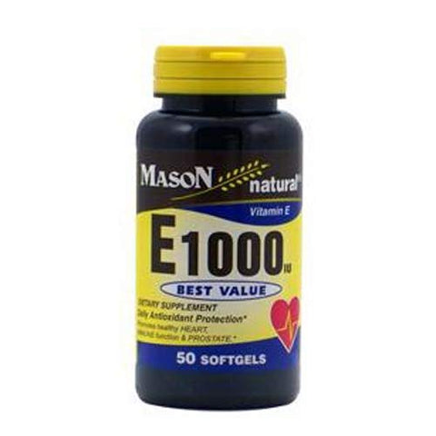 Mason Natural Vitamin E1000 Softgels - 50 Ea