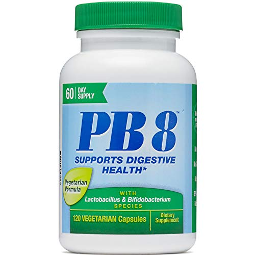 Nutrition Now Pb 8 Pro-Biotic Acidophilus For Life - 120 Vegetarian Capsules each (Value Pack of 2)