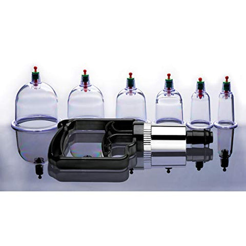 Master Series Sukshen 6 Piece Cupping Set with ACU-Points