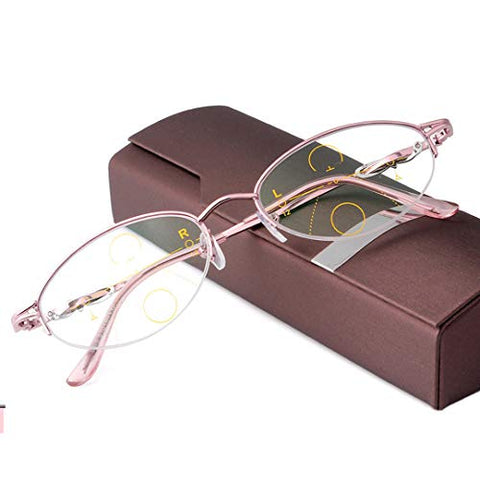 QQAA Progressive Reading Glasses Men??Far and Near Available, Smart Zoom,Read EyeSpectacles,Readers Compact Glasses,Fashion Design,for Reading/Writing