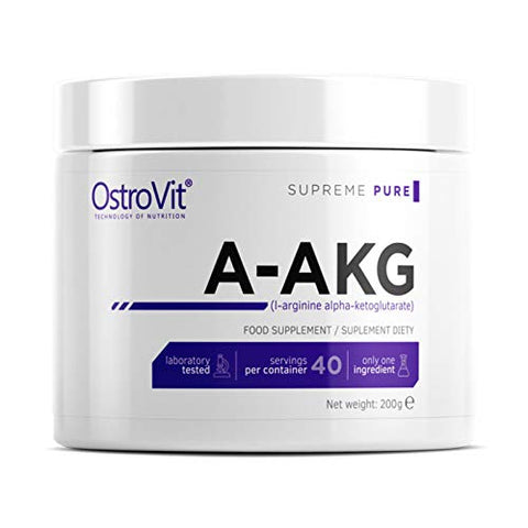 OSTROVIT NUTRITION A-AKG 200g | L-ARGININE with Taurine | PRE-Workout Booster for Muscle Pump | Pure UNFLAVORED Nitric Oxide Booster