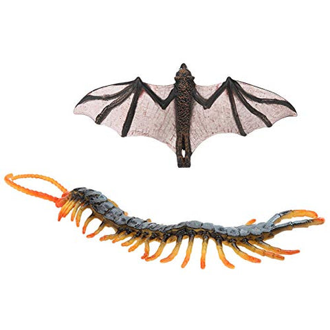 Model Toy, Plastic Simulation Wild Animal Toy PVC Insect Model Home Office Decoration Ornament Children Toy Gifts Collection(2pcs Insects Model)