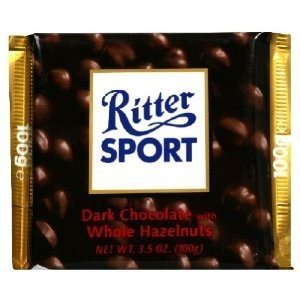 Ritter Sport Dark Chocolate with Whole Hazelnuts - 3.5 oz