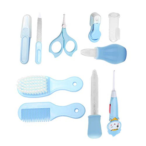 BPA-Free Plastic, Baby Health Care Tools Baby Daily Care Kit A Perfect Gift for Baby,(Blue)