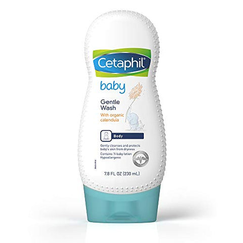 Cetaphil Baby Gentle Wash With Organic Calendula |Fresh Fragrance | Gentle And Safe | 7.8 Oz