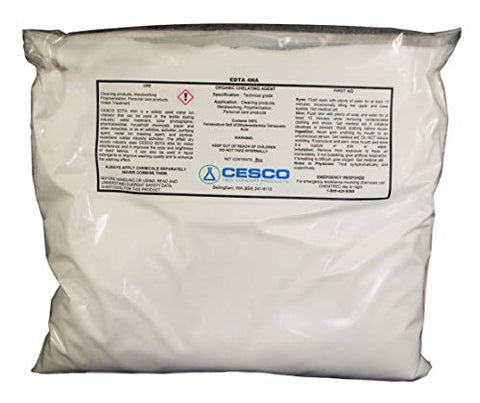 Tetrasodium EDTA Bulk Water Softener Chelating Agent Sequester Metal Ions (3 lbs)