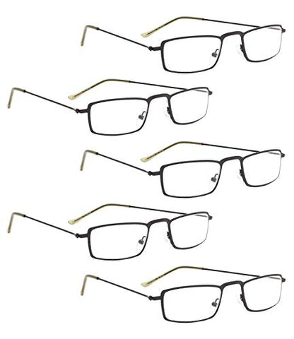 READING GLASSES 5 pack Small Readers (Black, 1.00)