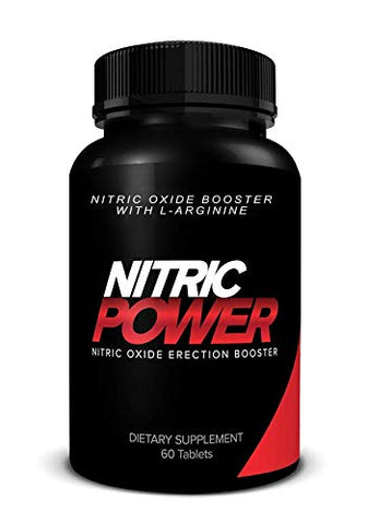 Nitric Power Nitric Oxide Supplement with L-Argenine - 800mg - Promotes Muscle Growth, Vascularity and Energy - Supports Physical Endurance, 60 Capsules
