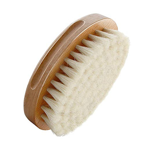 Exceart Baby Hair Brush Baby Hair Comb Oval Shape Soft Wool Brush for Newborns Toddlers White Khaki