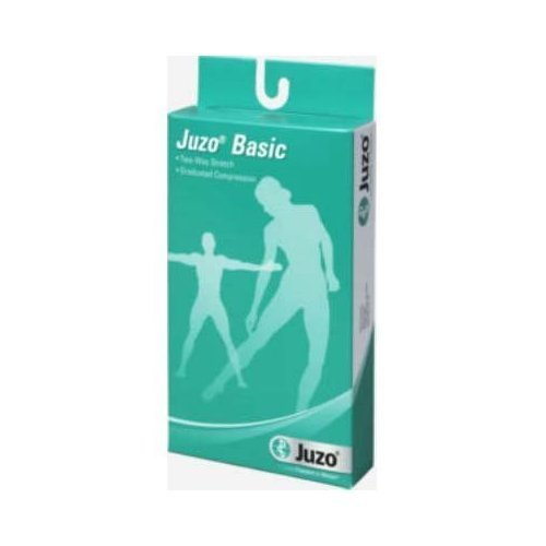 Juzo Basic Knee High Short - Full Foot Stockings Beige, Size 1, Extra Small, Compression 12-16 mmHg