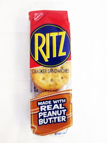 Ritz Cracker Sandwiches Made with Real Peanut Butter: 16 Packs of 1.38 Oz