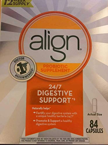 Align Daily Probiotic Supplement Capsules, 84 Count