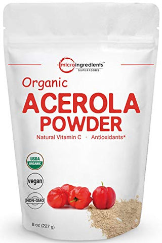 Pure Acerola Cherry Powder Organic, Natural And Organic Vitamin C Powder (Immune Vitamin) For Immune