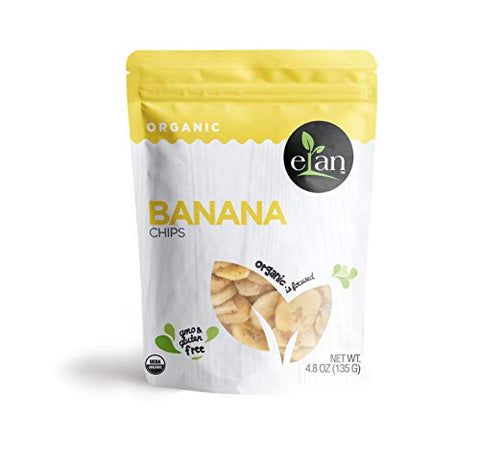 Elan Organic Banana Chips 8 Pack, 38.4 Oz