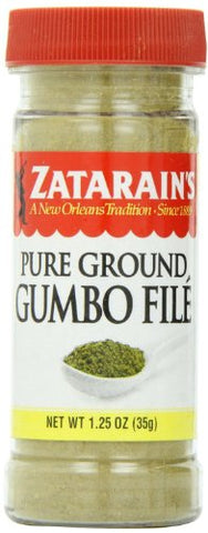 Zatarain's Pure Ground Gumbo FIle 1.25 oz (Pack of 3)