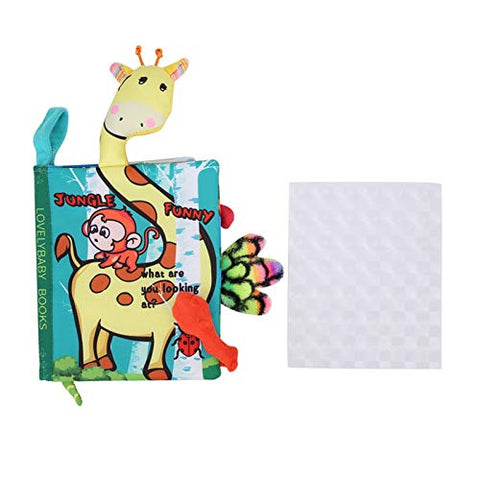 Baby Cloth Reading Toy Reading Toy Early Development Baby Soft Cloth Book for Babies(Jungle, Cloth Book)
