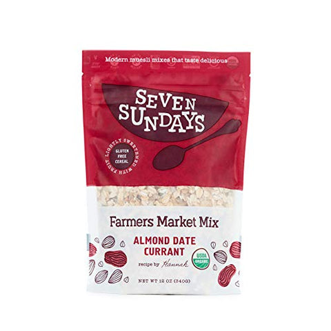 Seven Sundays Organic Farmers Market Muesli {12 Oz, 1Count} | Certified Organic | Gluten Free Certified | No Added Sugar | Non-Gmo | Vegan