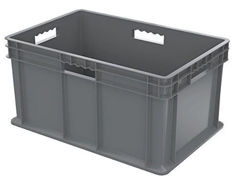"Straight Wall Container: Solid Side/Solid Base 23-3/4"" x 15-3/4"" x 12-1/4"" , 3/Car"