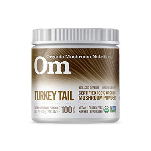 Om Organic Mushroom Superfood Powder, Turkey Tail, 7.05 Ounce (100 Servings), Immune Support, Gut He