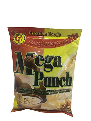 Mega Punch Jamaica's Finest Breakfast and Sports Men's Health Drink by Creation Foods (150 Grams) (3 Pack)