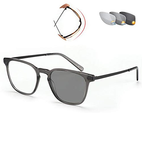 QQAA Progressive Reading Glasses Women and Men?? Computer Glasses,Color Changing Lens Prevents UV Rays,Readers Compact Glasses,Fashion Design, Multiple Colors