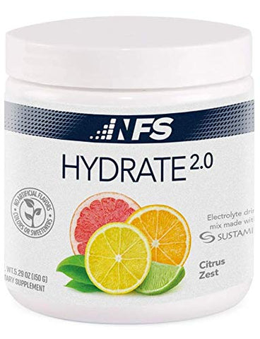 NF Sports Hydrate 2.0  an All-Natural Daily Hydration Mix Made formulated with Electrolyte and Sustamine to Amplify Hydration and Increase Performance. (Citrus Zest)