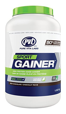 PVL Essentials Sport Gainer Rich Chocolate, 3.3 lbs