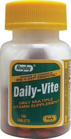 Daily-Vite 100 Tabs by Rugby - Pack of 2 by Rugby