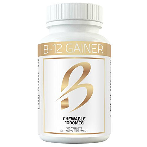 Gain Weight Fast w Weight Gainer B-12 Chewable Absorbs Faster Than Weight Gain Pills for Fast Massive Weight Gain in Men and Women While Opening Your Appetite More Than Protein