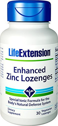 Life Extension Enhanced Zinc Lozenges, 30 Vegetarian Lozenges