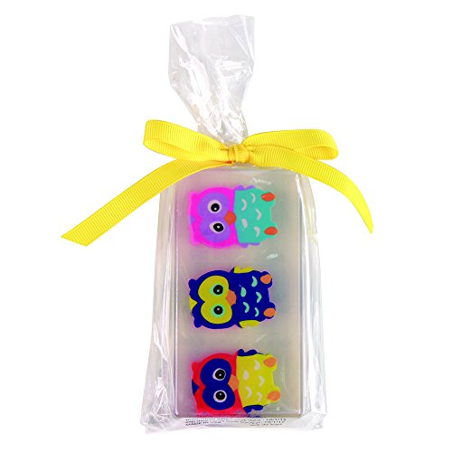 Clearly Fun Happy Owl Soap, Yellow Bow, 6 Ounce