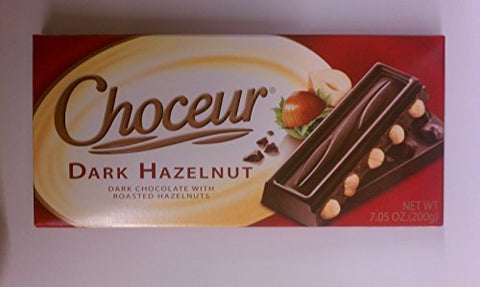 Choceur Dark Chocolate with Roasted Hazelnuts 7.05 oz (Pack of 6) by Choceur