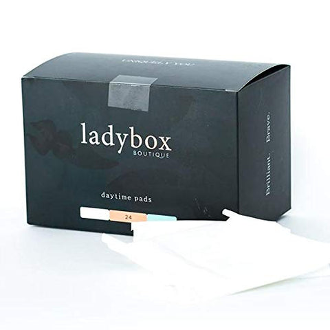 ladybox BOUTIQUE Organic Daytime Pads | Pure & Toxin-Free | 24 Count