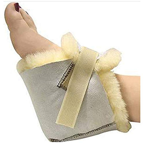 100% Genuine Sheepskin Heel Protector Protect Feet, Heels & Elbows Bed & Pressure Sores(1 Piece)