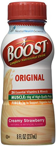 Boost Complete Nutritional Drink, Creamy Strawberry, 8 Ounces Each (Pack of 6)