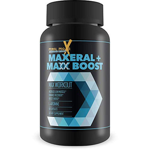 Maxeral + Maxx Boost - Max Workout - Explosive Muscle Growth and Support - Improve Your Gains and Give Yourself an Alpha Edge - Herbal Workout Support Recovery and Blood Flow Blend