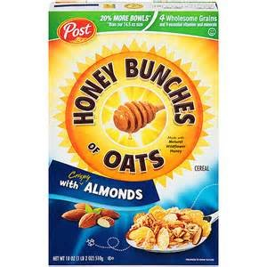 HONEY BUNCHES OF OATS CEREAL WITH ALMONDS 18 OZ