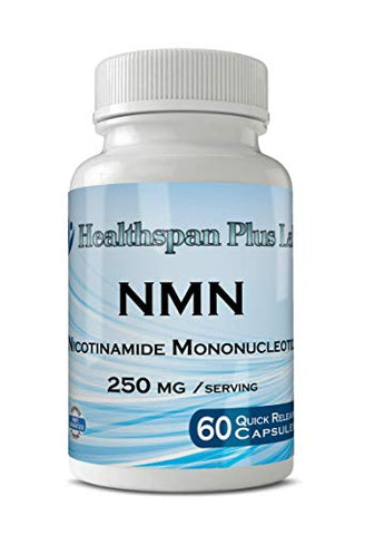 NMN Supplement, Nicotinamide Mononucleotide, Real NMN, NAD+ ,60 Count 250mg/serv