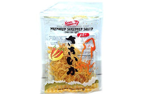 Saki Ika (Spicy Shredded Squid) - 2 oz (Pack of 12)