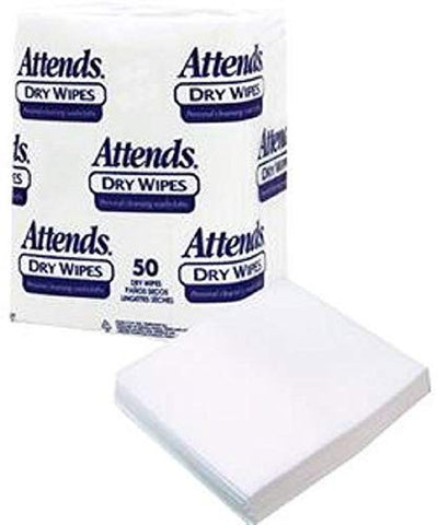 Attends Healthcare Products 482503 Attends Dry Wipes, 10 X 13, Medium-Weight,Attends Healthcare Products - Pack(Age) 50 by Attends Healthcare