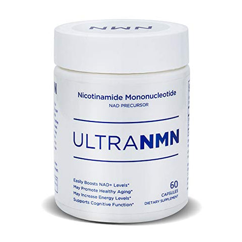 UltraNMN Nicotinamide Mononucleotide NAD+ Supplement,Vitamin B3 Family, 260 mg per Serving - NAD+ Precursor ?Help Promote DNA Repair,Boost Energy,Longevity,Improve Metabolism - 60 Capsules