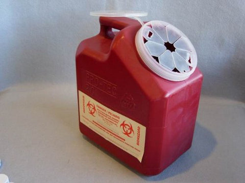 2 Gallon Sharps Container (Red) (1 ea. or 24 per cs.)